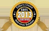 CDTL Editor's Choice Anti-virus Solution Award for 2013.